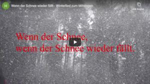 Video abspielen - Wenn der Schnee wieder fällt